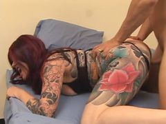 Redhead Milf Gives A Slow And Long Blow Job To Young Stud