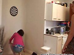 Three girls playing Strip Darts game