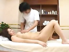 Spycam: Young Woman fucked by massager in health spa