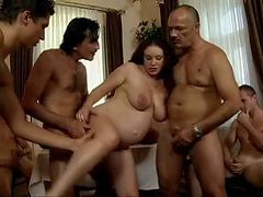 Daddyand#039;s Friends Gangbang His Pregnant Daughter