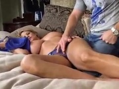 Sleeping Big Breasted Mom