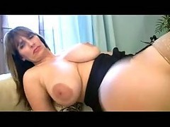 Busty Milf Fingers In Stockings