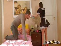 Maid In Uniform Anal Fucks With Mr. Home