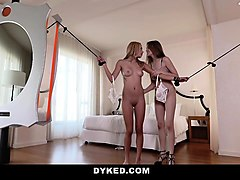 dyked- hot blonde dommed by lesbian therapist