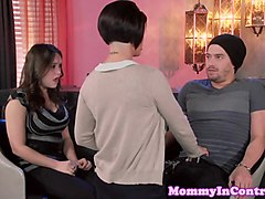 Dom stepmom pussylicked closeup by teens bf