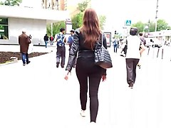 two luscious asses in black jeans
