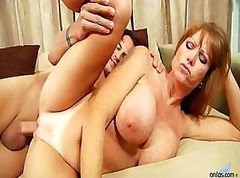 Huge busty milf gets titty fucked