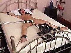 Charlie Laine Tied To Bed And Fucked By Machine Teen Sexy Young