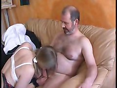 French Teen With Older Man