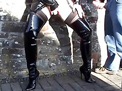 Street Whore In Thigh Boots