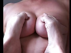 German Gf Gets Her Big Natural Tits Massaged By Feet Pov